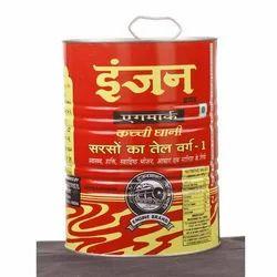 Engine Mustard Oil Kacchi Ghani 5 Ltr. Tin