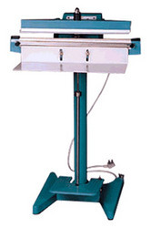 arp foot operated heat sealer for sealing filled pouches