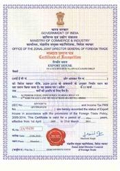 Export House Certificate