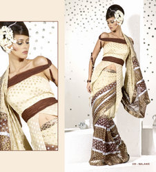 Cream Party Wear saree