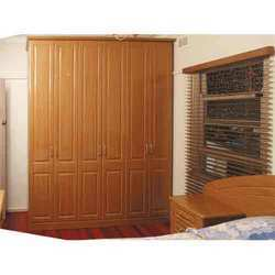 Wooden Partition Wardrobe