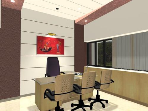 Lovely 3D Model Designing For Office Cabins