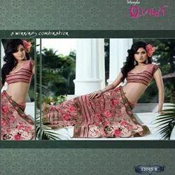 Rose Print Lehnga Saree