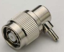 TNC Male Right Angle RP Crimp Connector