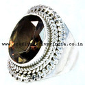 Smoky Quartz 925 Sterling Silver Ring