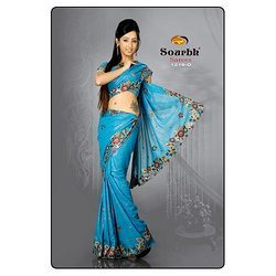 Blue Shaded Saree