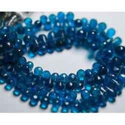 Neon Blue Apatite Faceted Drops -Size 8-6mm Approx