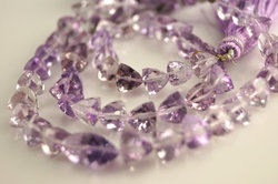 Pink Amethyst Faceted Trillion Shape
