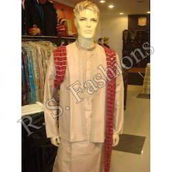 Kurta Churidar With Short Jacket