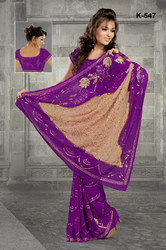 Machine Embroidery Sarees