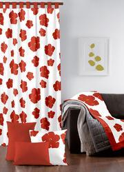 Printed Red Curtain