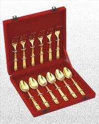 12 Pc. Set Velvet Box Gold Plated