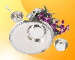 5 Pcs Silver Dinner Set