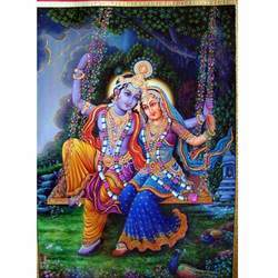 Krishna Radha Attractive Painting