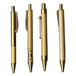 Gold Wooden Ball Point Pens