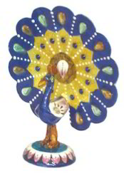 Meena Item Peacock Sculpture