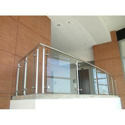 Aluminium & Glass Railing For Stairs