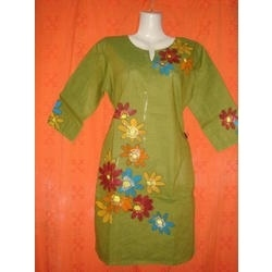 Painted Ladies Full Sleeve Kurti