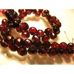 Red Garnet Faceted Onion