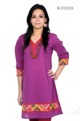 Attractive Turquoise Embroidered Kurti