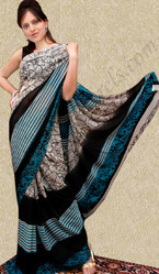 Faux Georgette Strip Saree