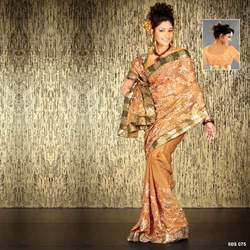 Georgette Golden Zari Sarees