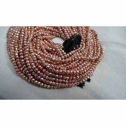 Pink Copper Pyrite Faceted Beads