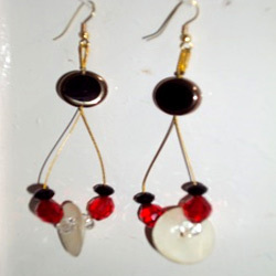 Shell Bead Earrings