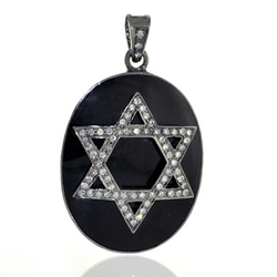 Enamel Diamond Star Pendants