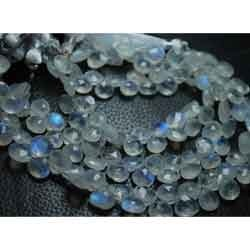 Rainbow Moonstone Faceted Heart Briolettes