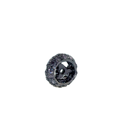 Pave diamond bead-spacers