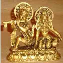 Radha Krishna Sitting w/ Ring