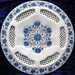 White Marble Decorative Plate