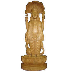 Wooden God Statue