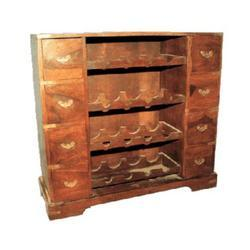 Wine Rack Of 4 Equal Drawers Both Side Of Central Racks