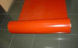 Heat Resistant Red Coated Fabric