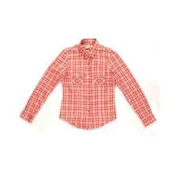 Red Check with Double Pocket Shirts UDF-586