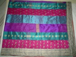 Bed Cover Old Saree Patch