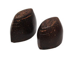 Polished Coconut Shell Salt and Pepper Shaker