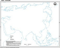 Map of Asia Outline