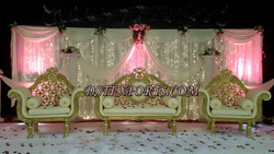 Asian Wedding Gold Elegant Furniture