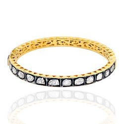 Designer Gold Diamond Bangles