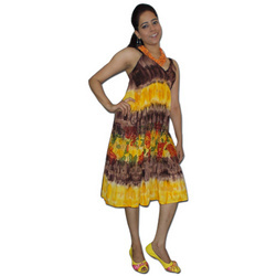 Beach Wear Dress With Tie & Dye