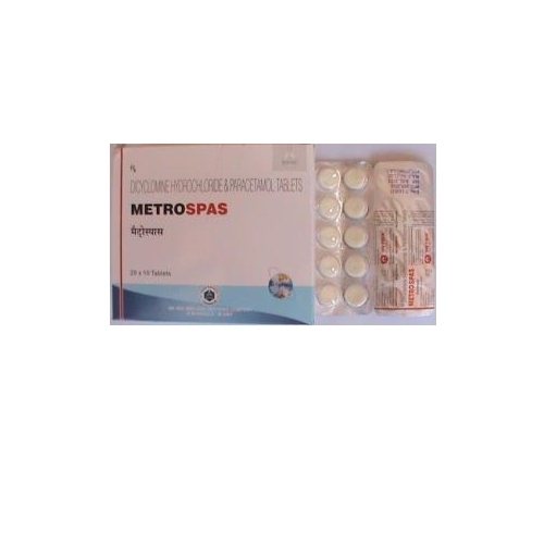 Dicyclomin And Paracetamol Tablets