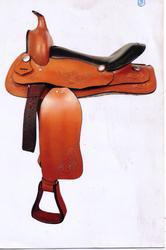 Western Saddle With Embossing & Softy Leather