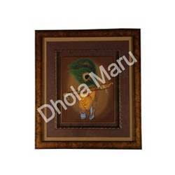 peacock feather krishna bansuri painting