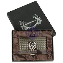 Metal Card Holder With Ganesha