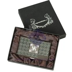 Metal Card Holder With Swastika