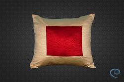 Cream And Red Cushion Cover
