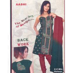 Salwar Suits With Back Work